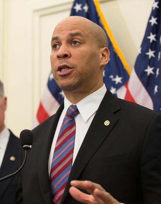 El senador del partido demócrata de New Jersey, Cory Booker.