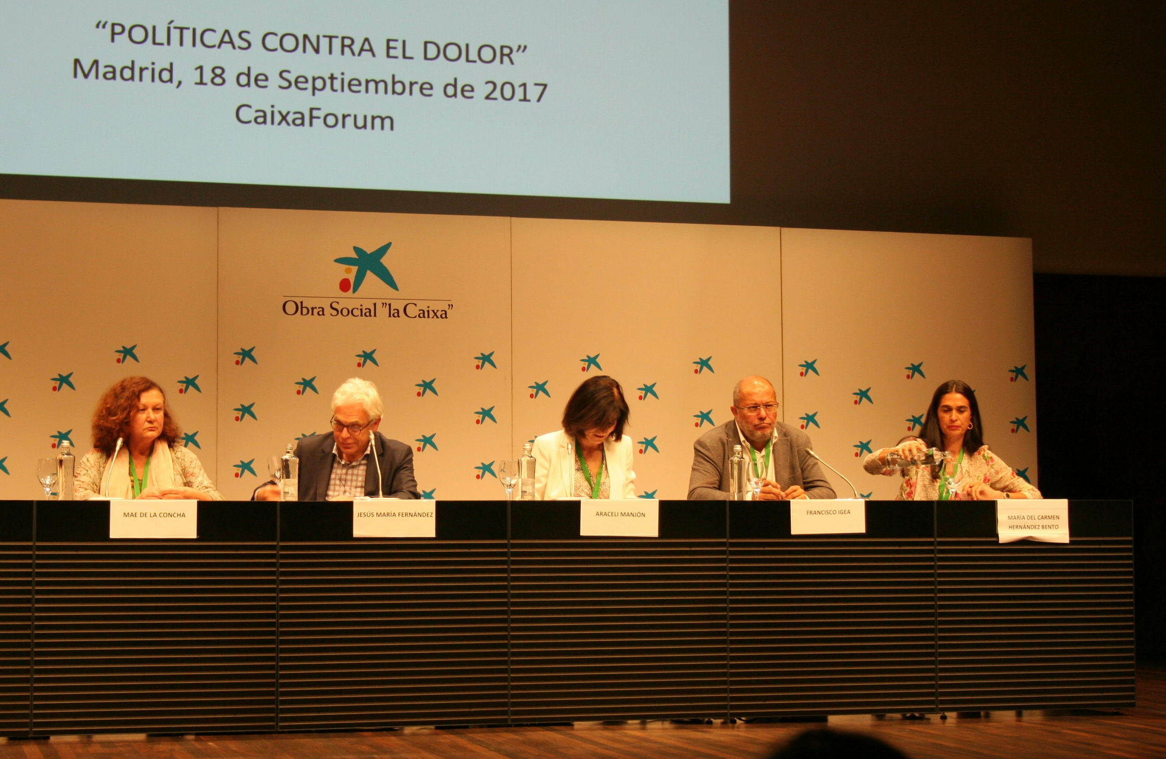 Diputados de las principales formaciones políticas durante el debate presidido por Araceli Manjón.