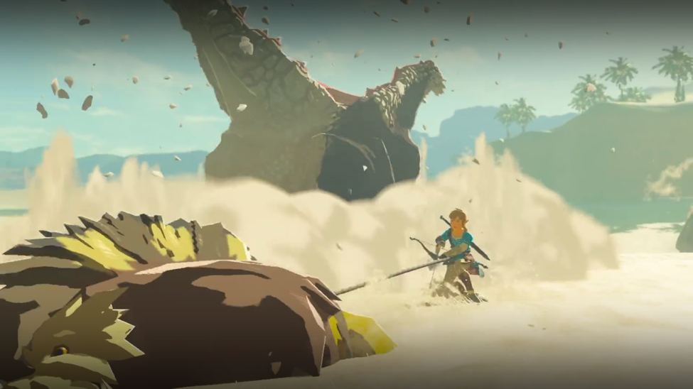 breath of the wild trailer action