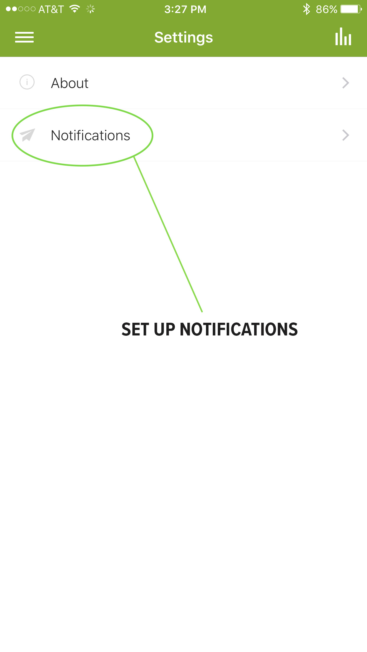 2. Select Notifications
