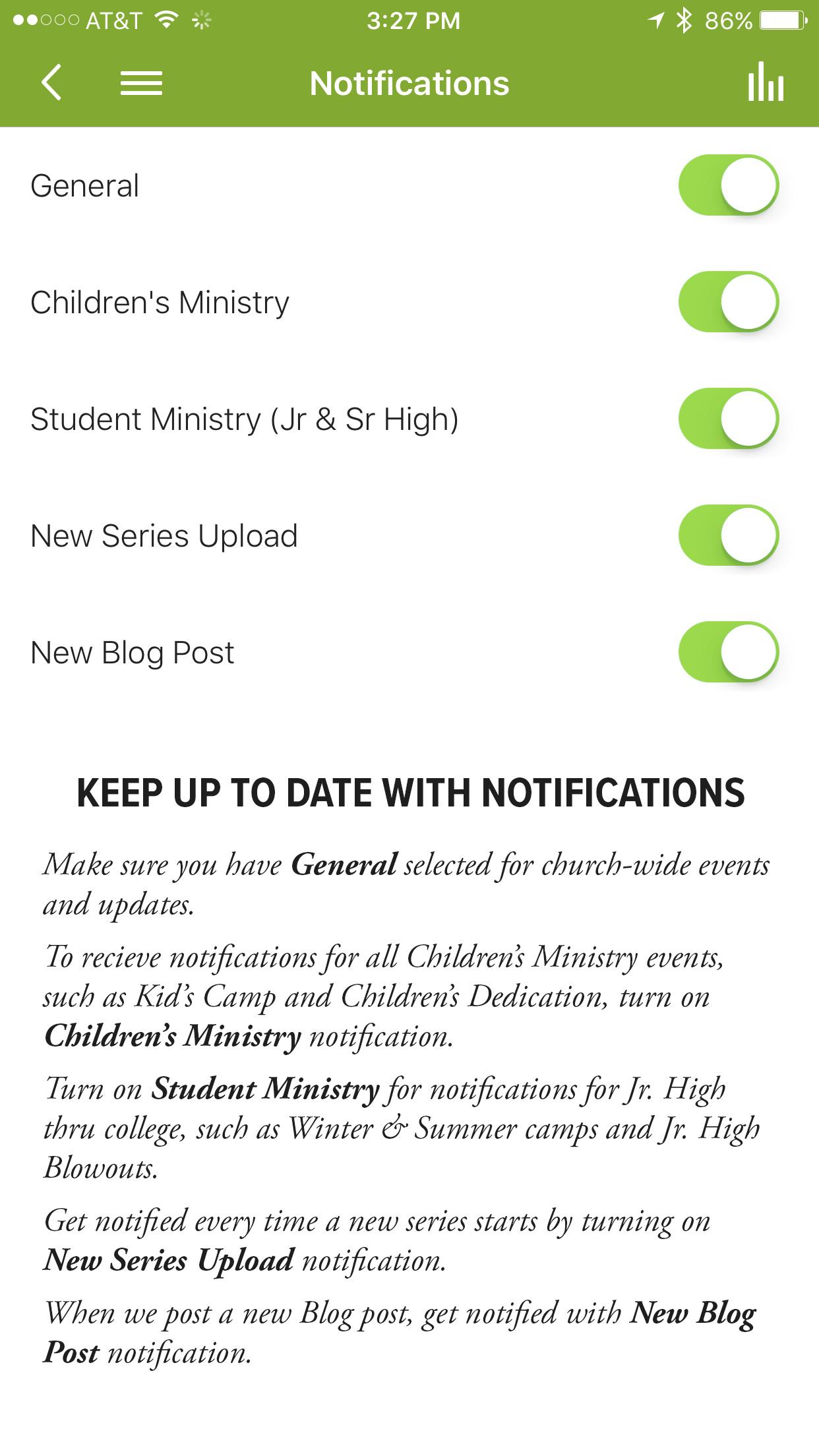 3. Customize you Notifications