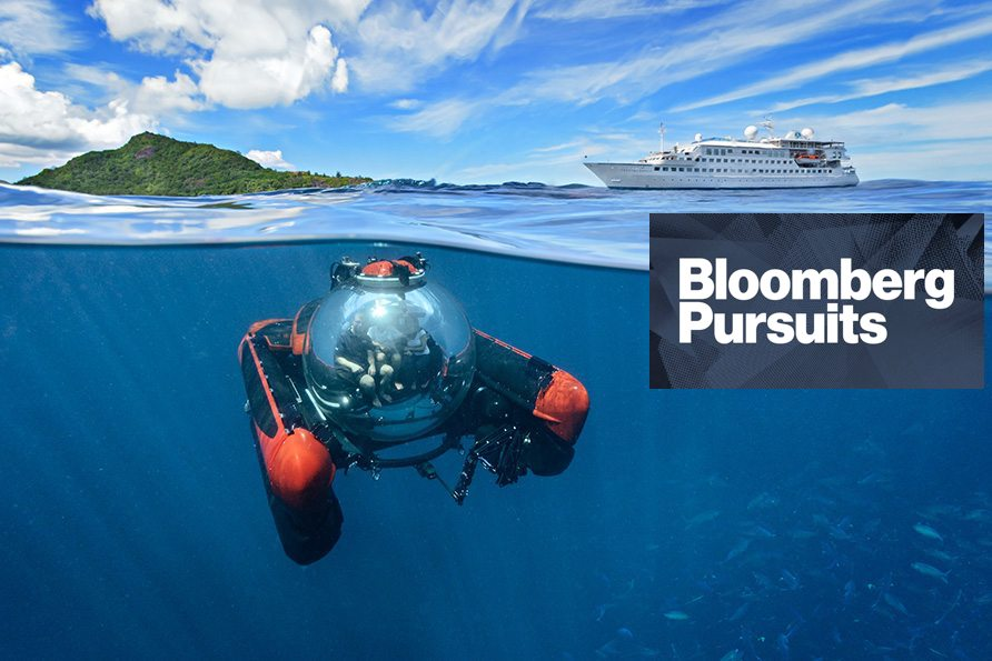 The Future of Cruising Is Jets and Submarines - My feature on Crystal Cruise's aggressive and somewhat surprising expansion into the sky and into small cruise vessel business for Bloomberg Pursuits.(Bloomberg — February 2016)