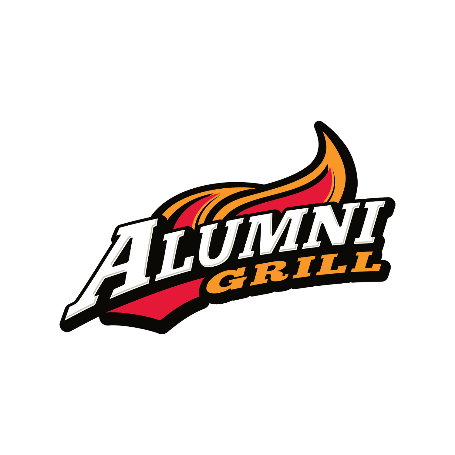 Logo and identity design for Alumni Grill.