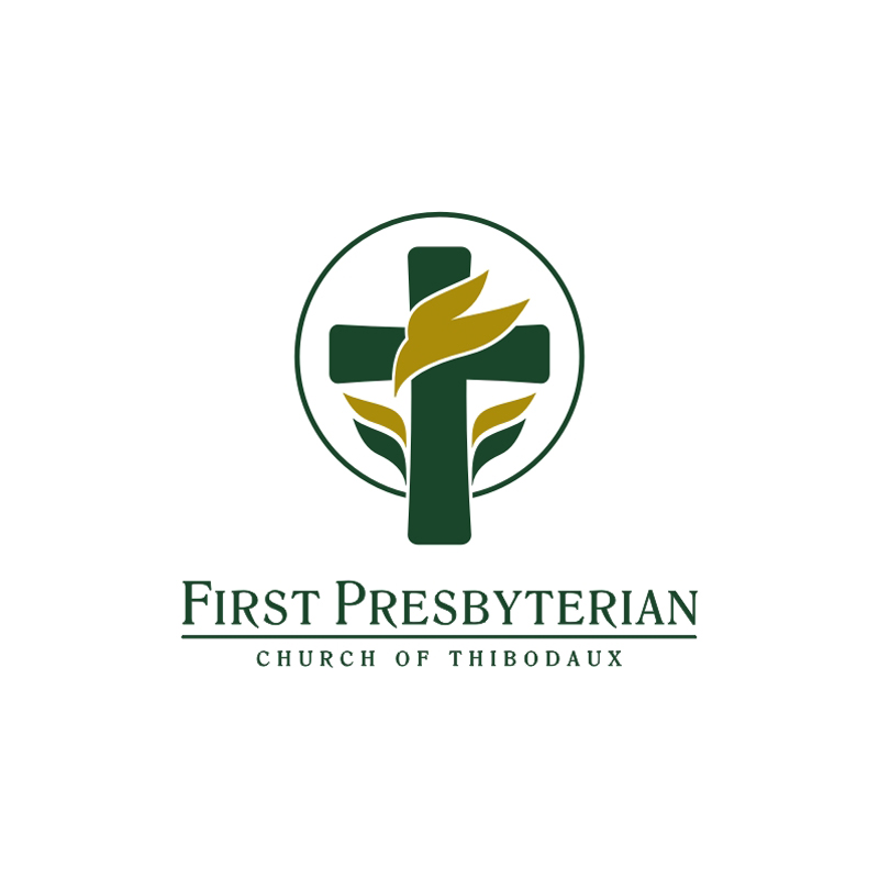 Logo and identity design for First Presbyterian Church of Thibodaux.