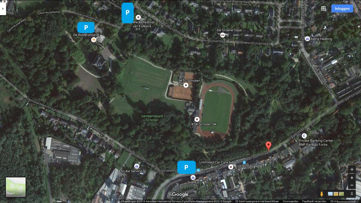 Parkeergelegenheid bij Gemeentepark Schoten