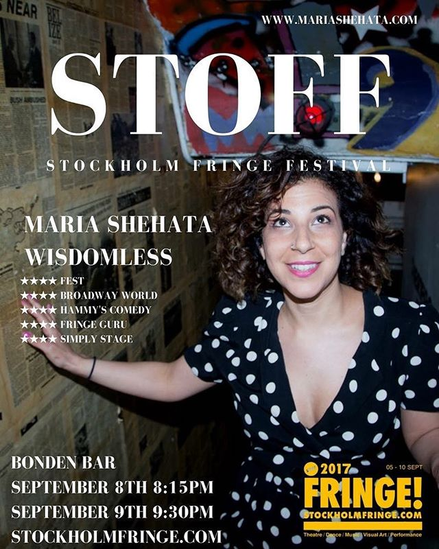 STOCKHOLM! I'm performing my show Wisdomless at Bonden Bar tonight and tomorrow as part of #STOFF2017