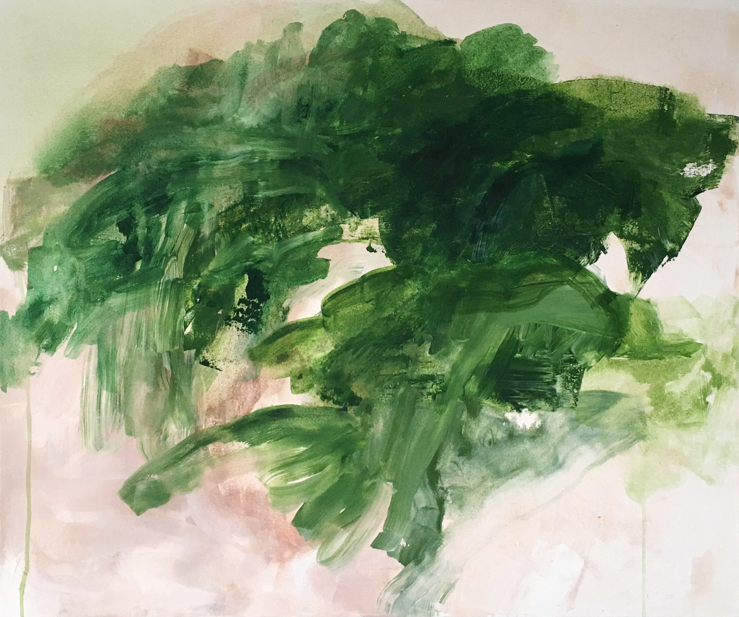 "We Never Left , acrylic on canvas, 36 x 30"", 2017"