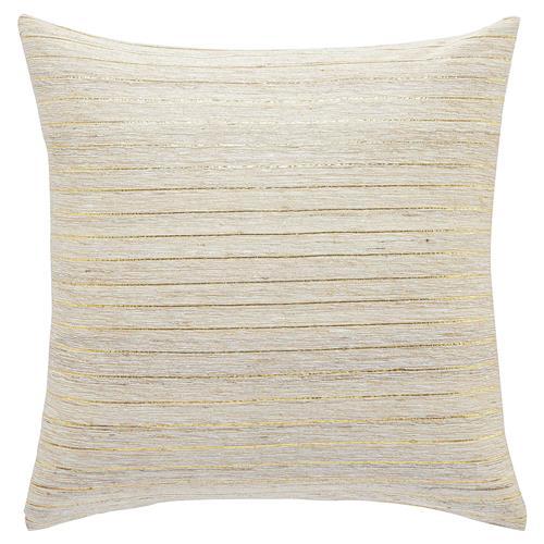 Threaded Gold Ivory Silk Pillow - 20x20 $115.00
