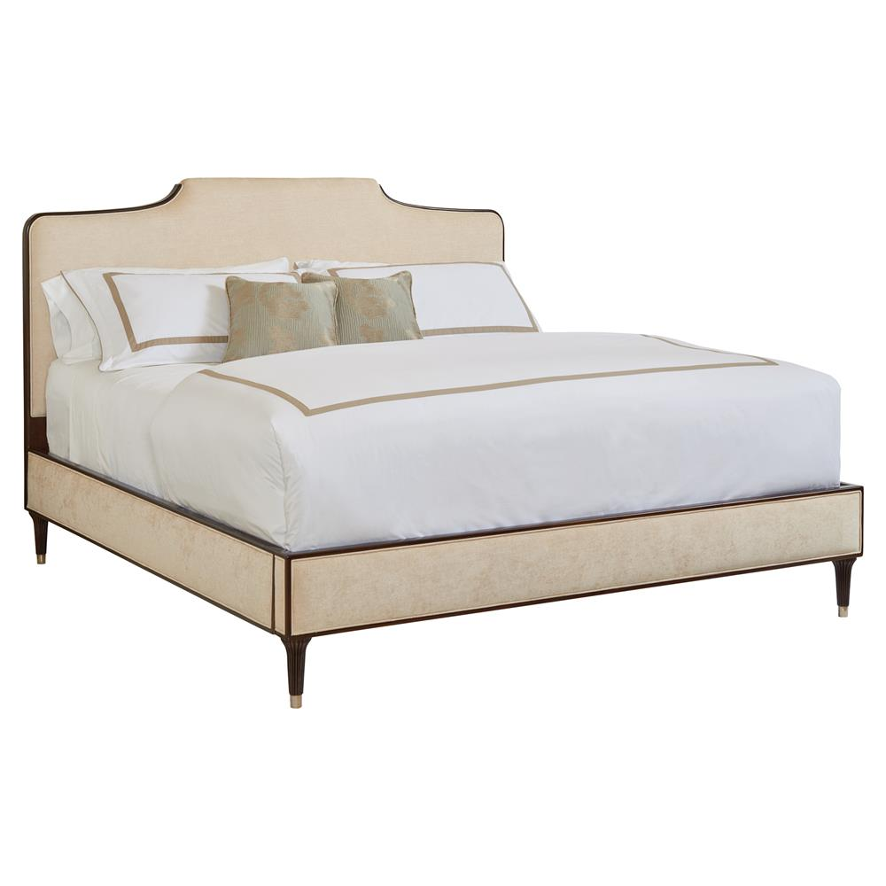 Abigail Velvet trim bed - Queen $2,116.00