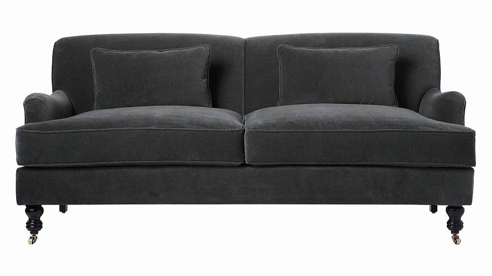 "Beaumont Classic Rolled Arm Velvet Sofa - 72""   $4,018.00"