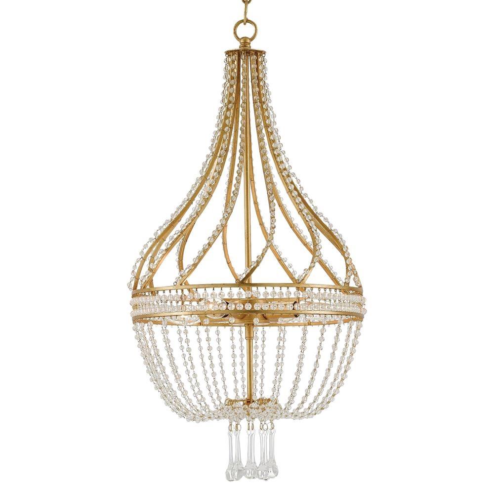Alulah Gold Leaf Empire Chandelier   $1,160.00