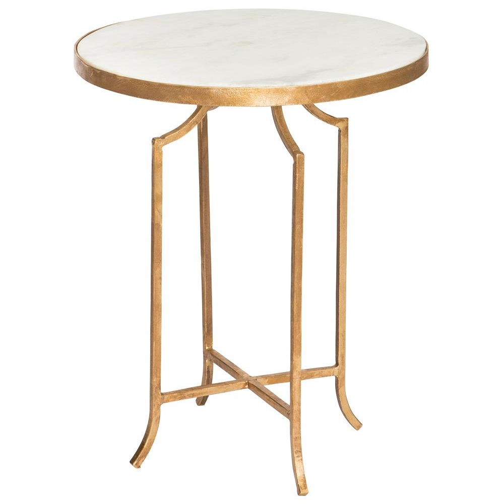 Fiji Gold Leaf Marble End Table   $511.00