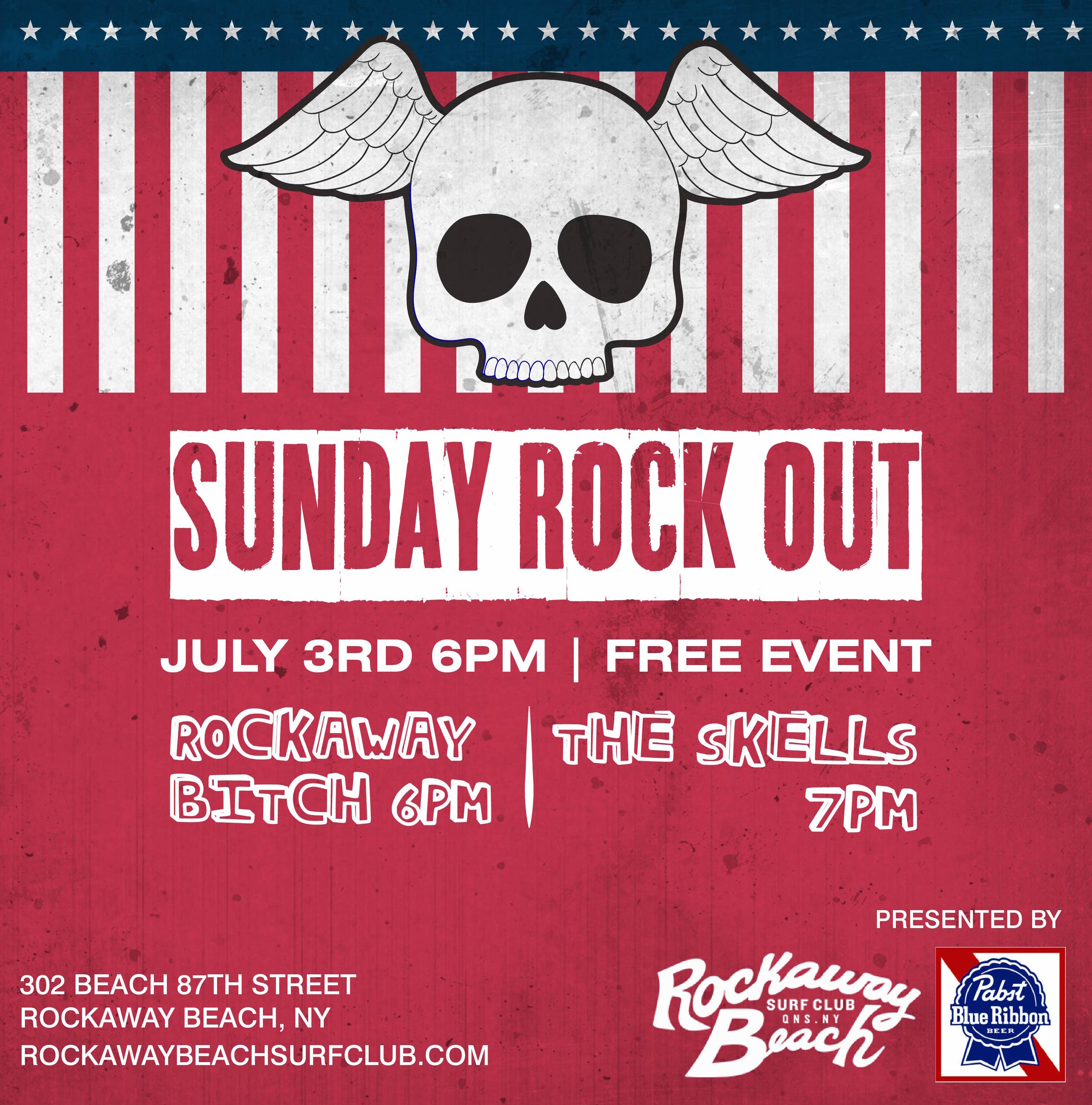 sunday rock out rockaway beach surf club