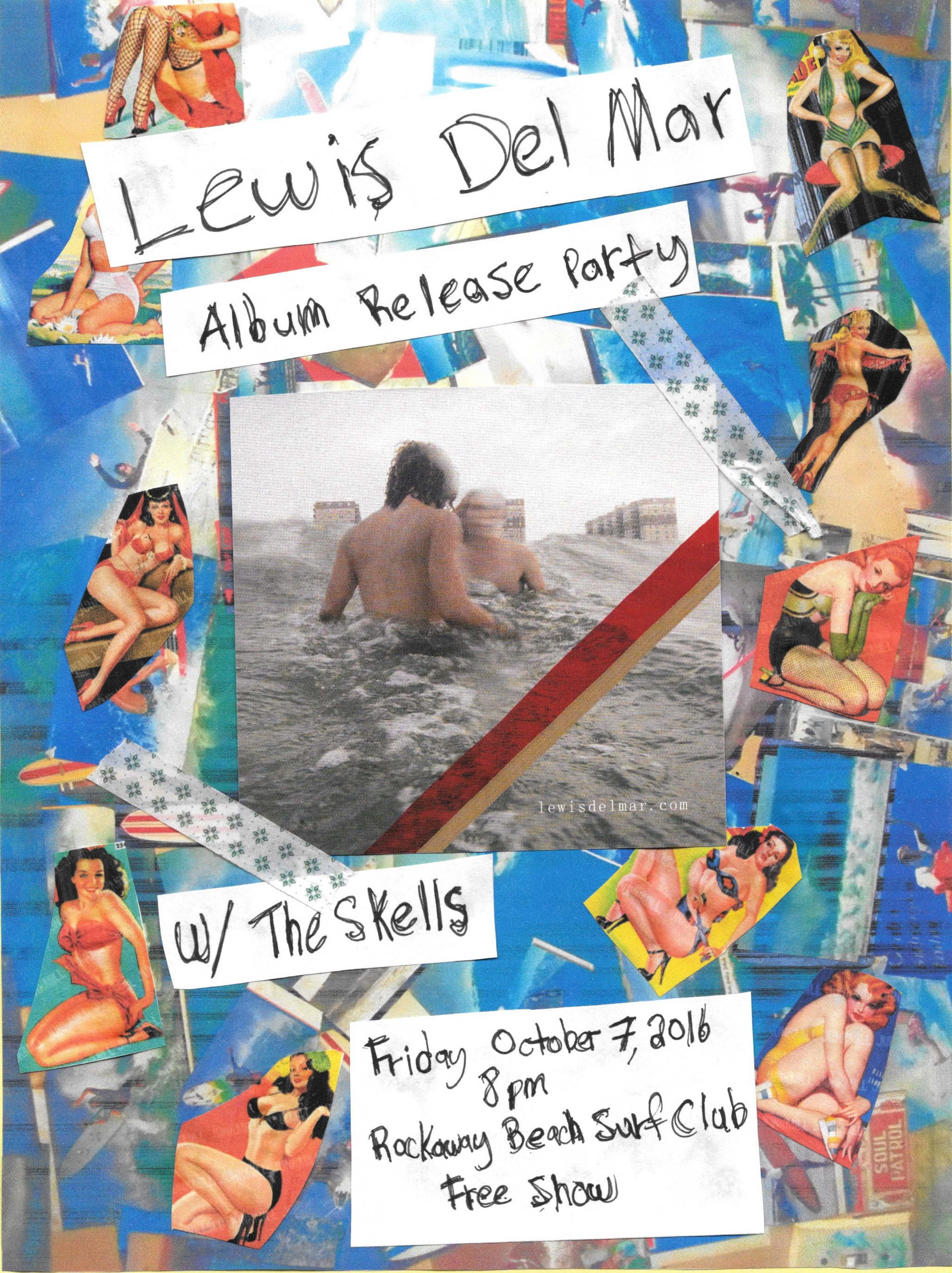 lewis del mar album release party rockaway beach surf club