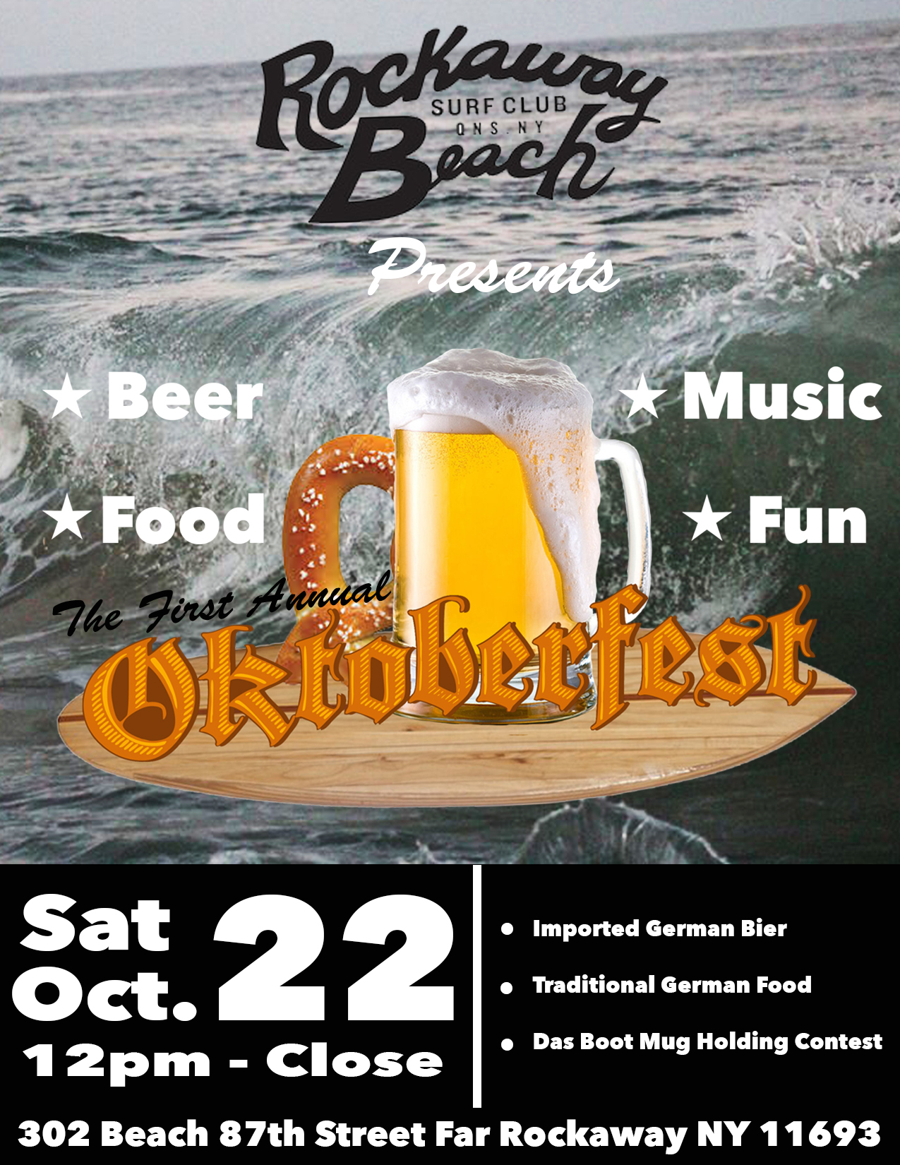 oktoberfest rockaway beach surf club