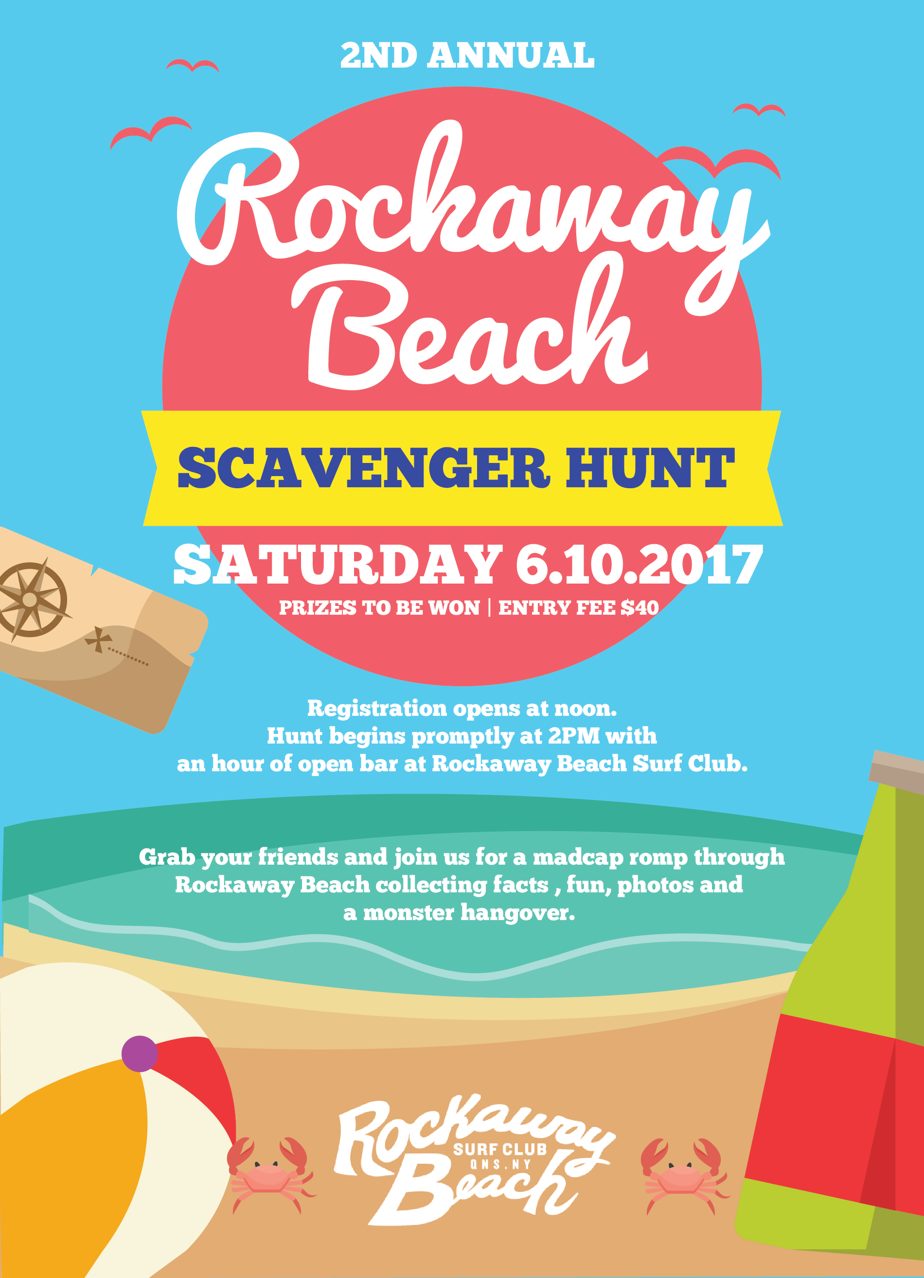 rockaway beach surf club scavenger hunt 2017