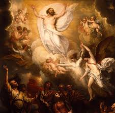 The Ascension of Jesus Christ to be seated at the right hand of our Father.