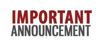 Announcements Week of November 5