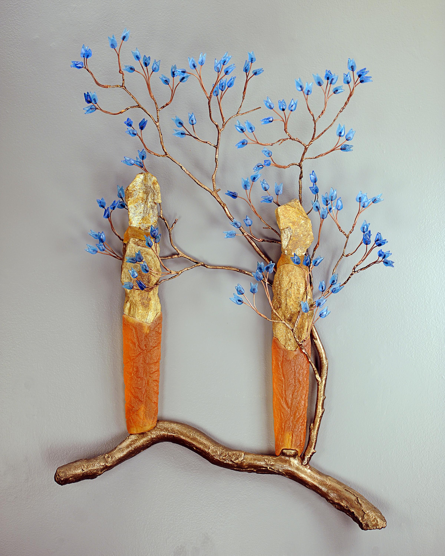 Blue Leaf Entwine #1,2011, 36x24x8 Figs 18H.jpg