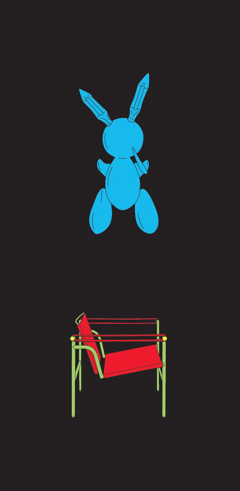 Michael Craig-Martin    Koons• 2012 Serigrafia Edição: 50   100 x 46 cm