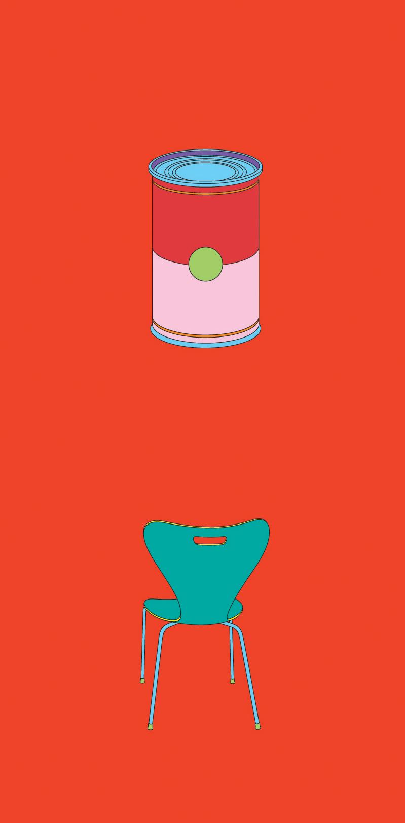 Michael Craig-Martin    Warhol• 2012 Serigrafia Edição: 50   100 x 46 cm