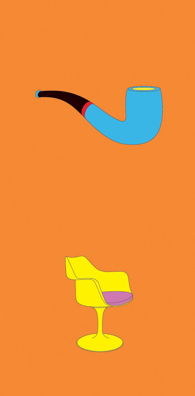 Michael Craig-Martin    Magritte• 2012 Serigrafia Edição: 50   100 x 46 cm