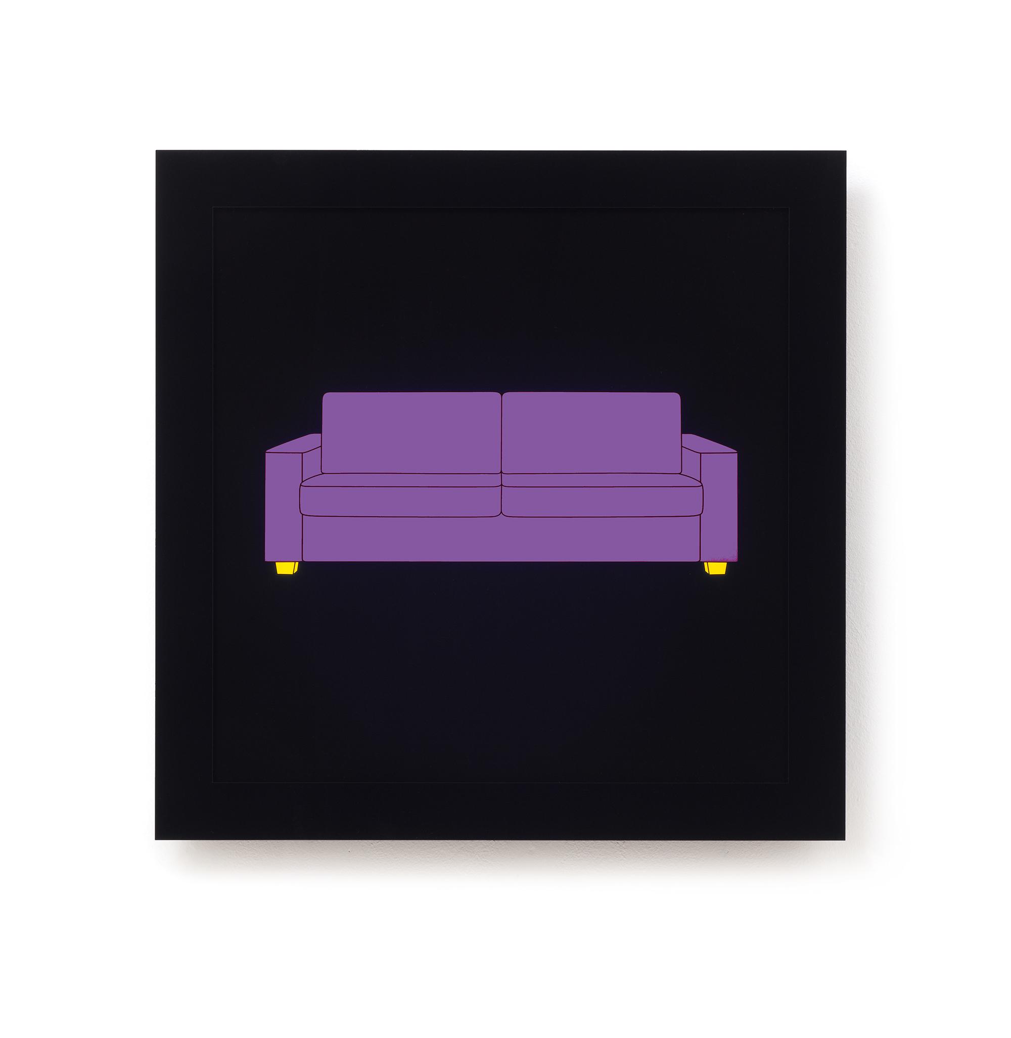 Michael Craig-Martin   Sofa • 2013   Caixa de Luz (serigrafia, acrilico, LED)   Edição: 15   60 x 60 cm