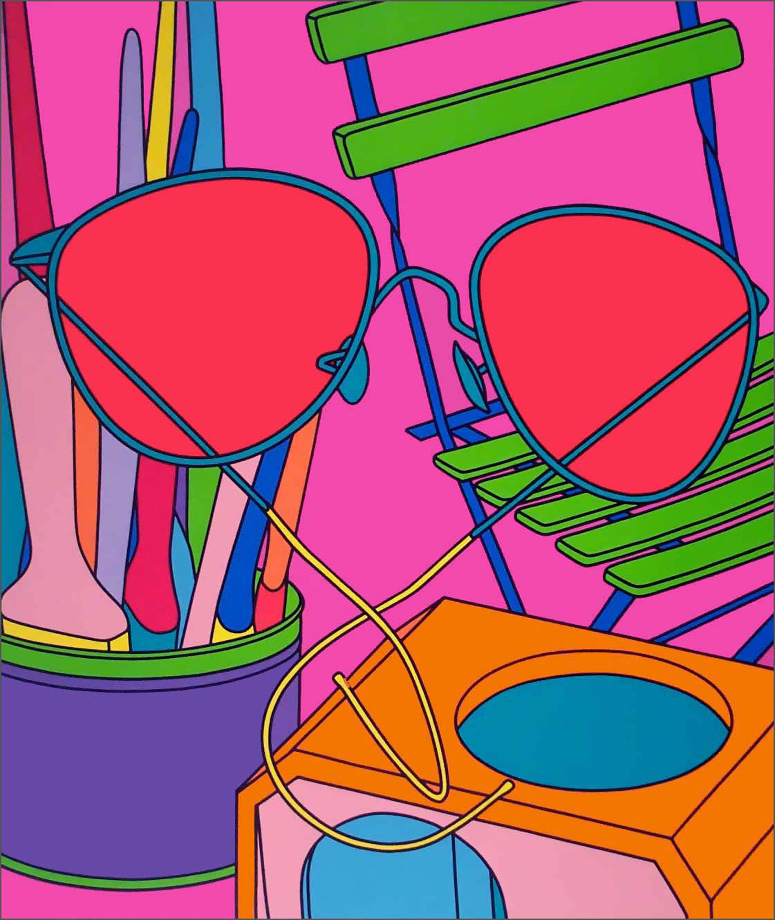 Michael Craig-Martin    Intimate Relations: Sunglasses • 2001 Serigrafia Edição: 50