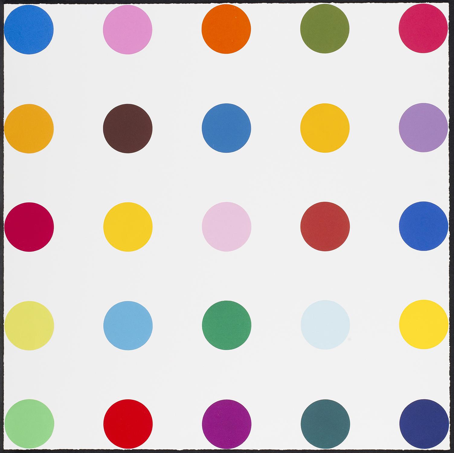 Damien Hirst  Bromobenzotrifluoride • 2010 Xilogravura   Edição: 48   91.4 x 91.4 cm
