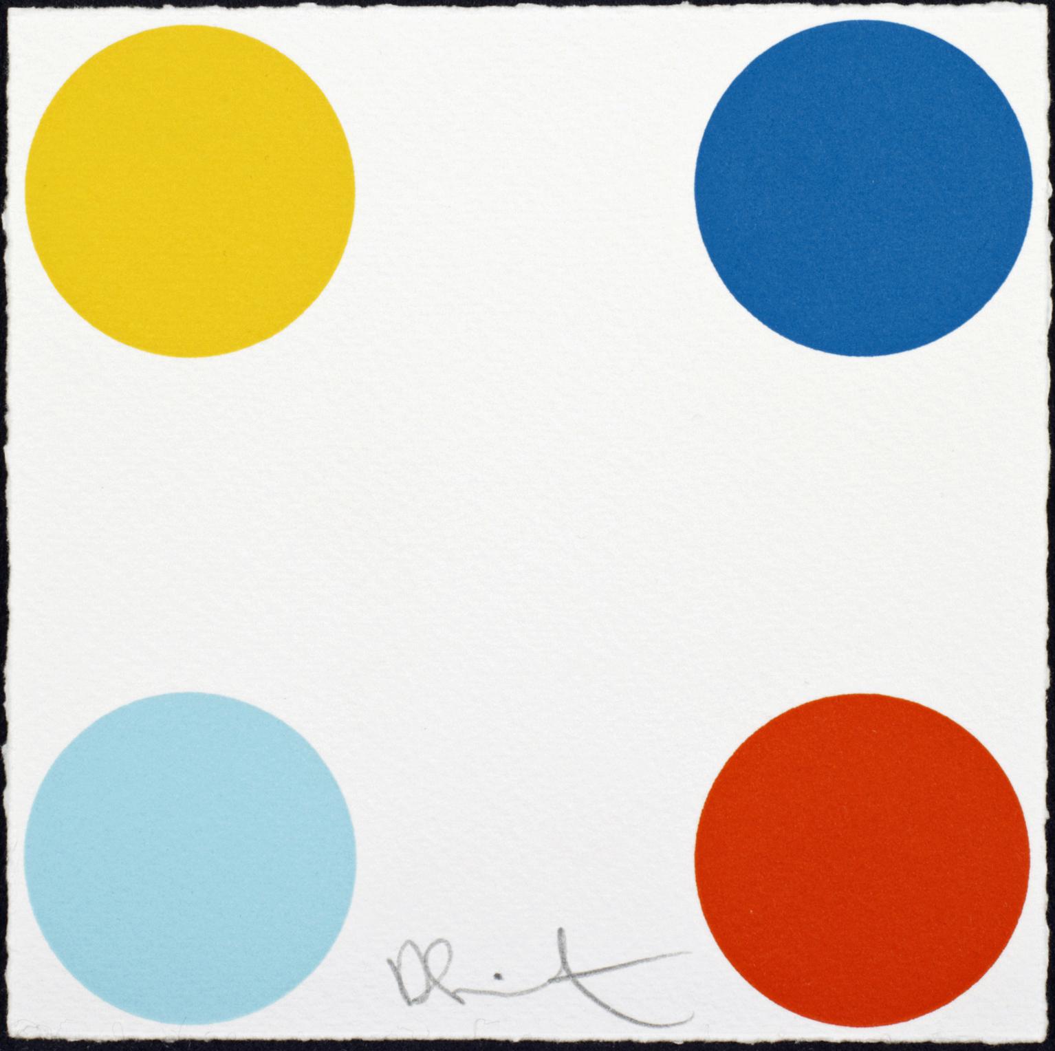 Damien Hirst  Phenyl Salicylate • 2011/2012 Xilogravura Edição: 55   19 x 19 cm
