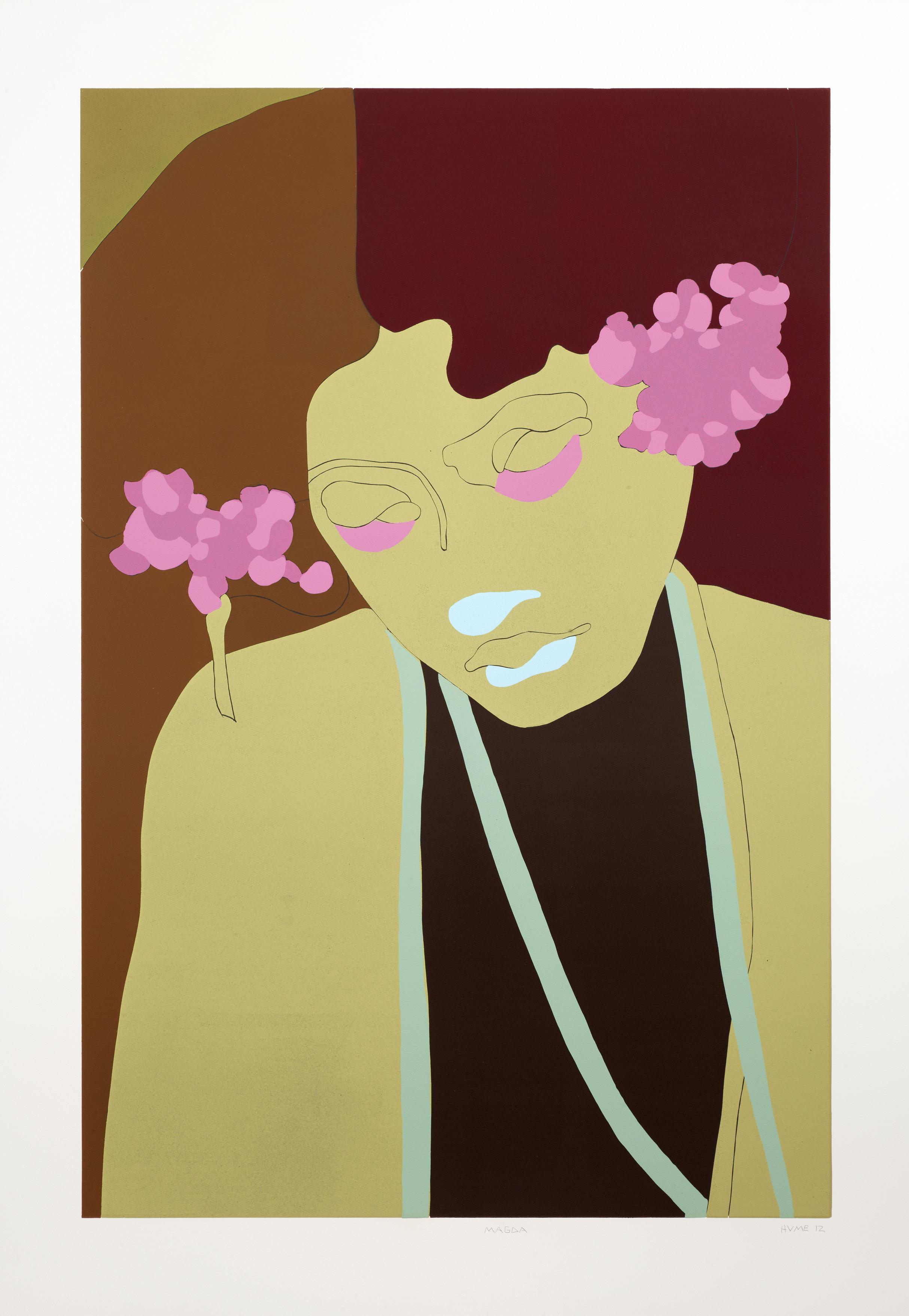 Gary Hume  Magda •2012 Linocut Edição: 56 134 x 93 cm
