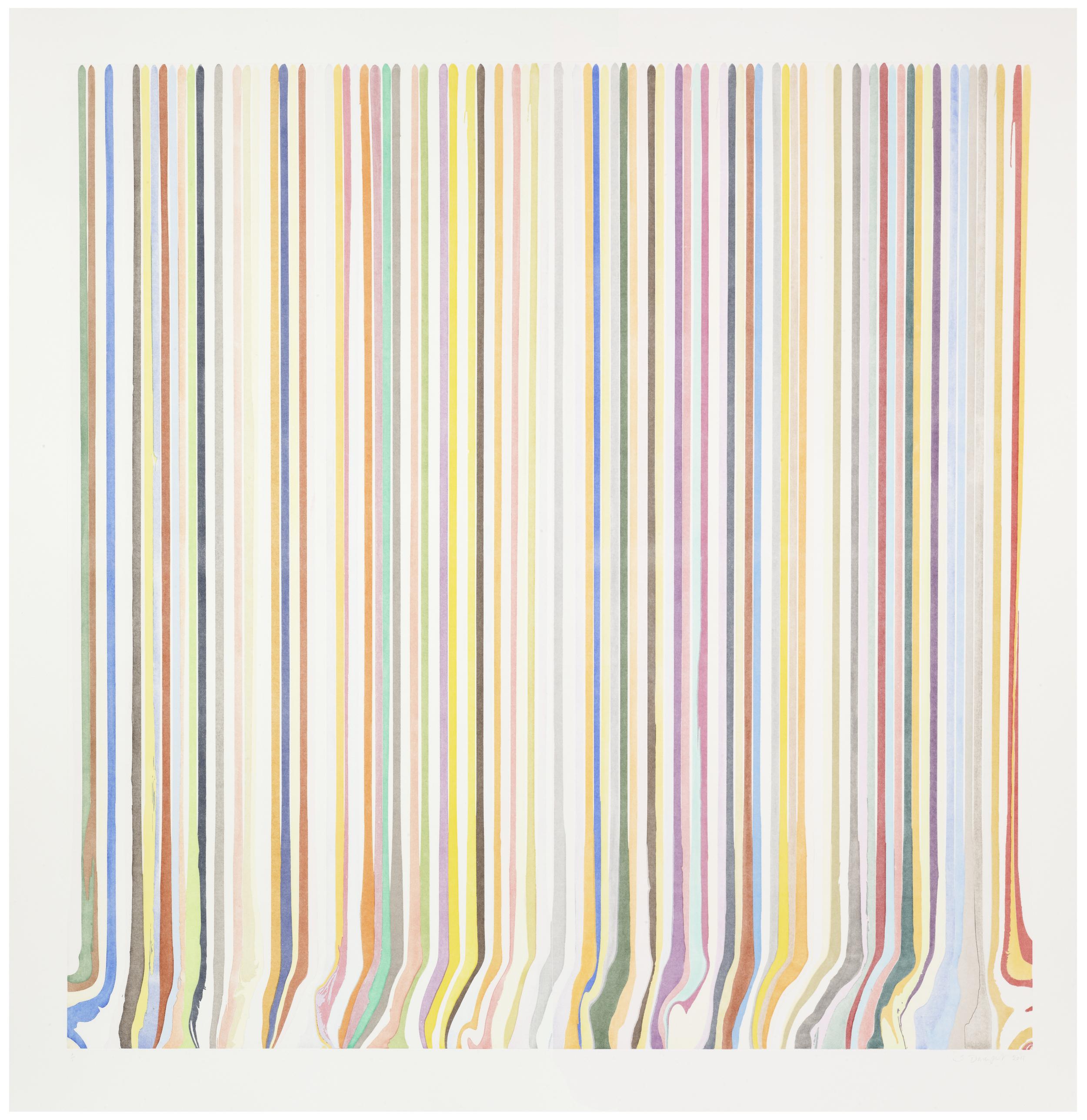 Ian Davenport  Prismatic Diptych Ghost •2011 Gravura em metal   Edição: Unica 199.5 x 193.0 cm