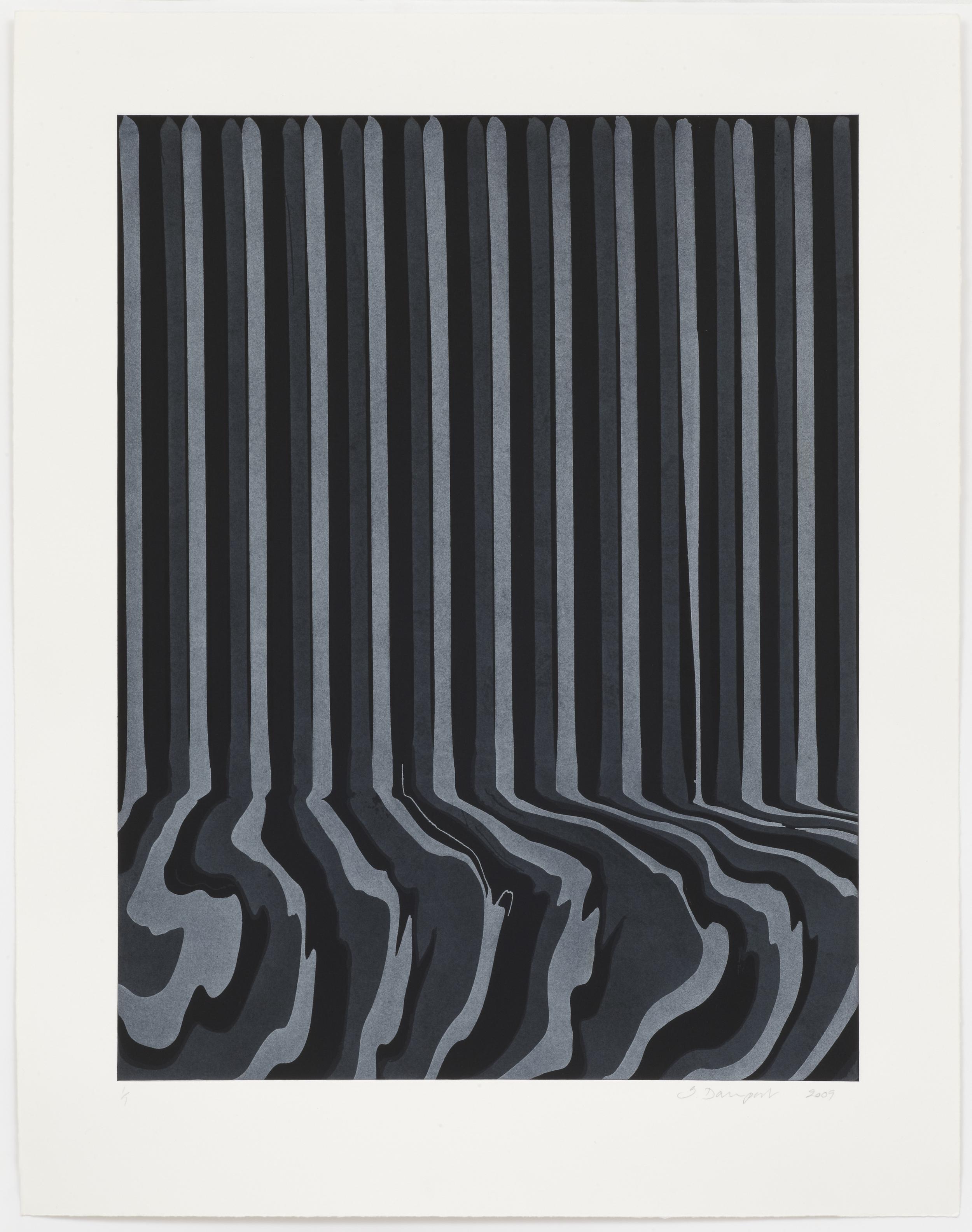 Ian Davenport  EtchedPuddle: 10 • 2009 Gravura em metal Edição: única 86.5 x 67 cm
