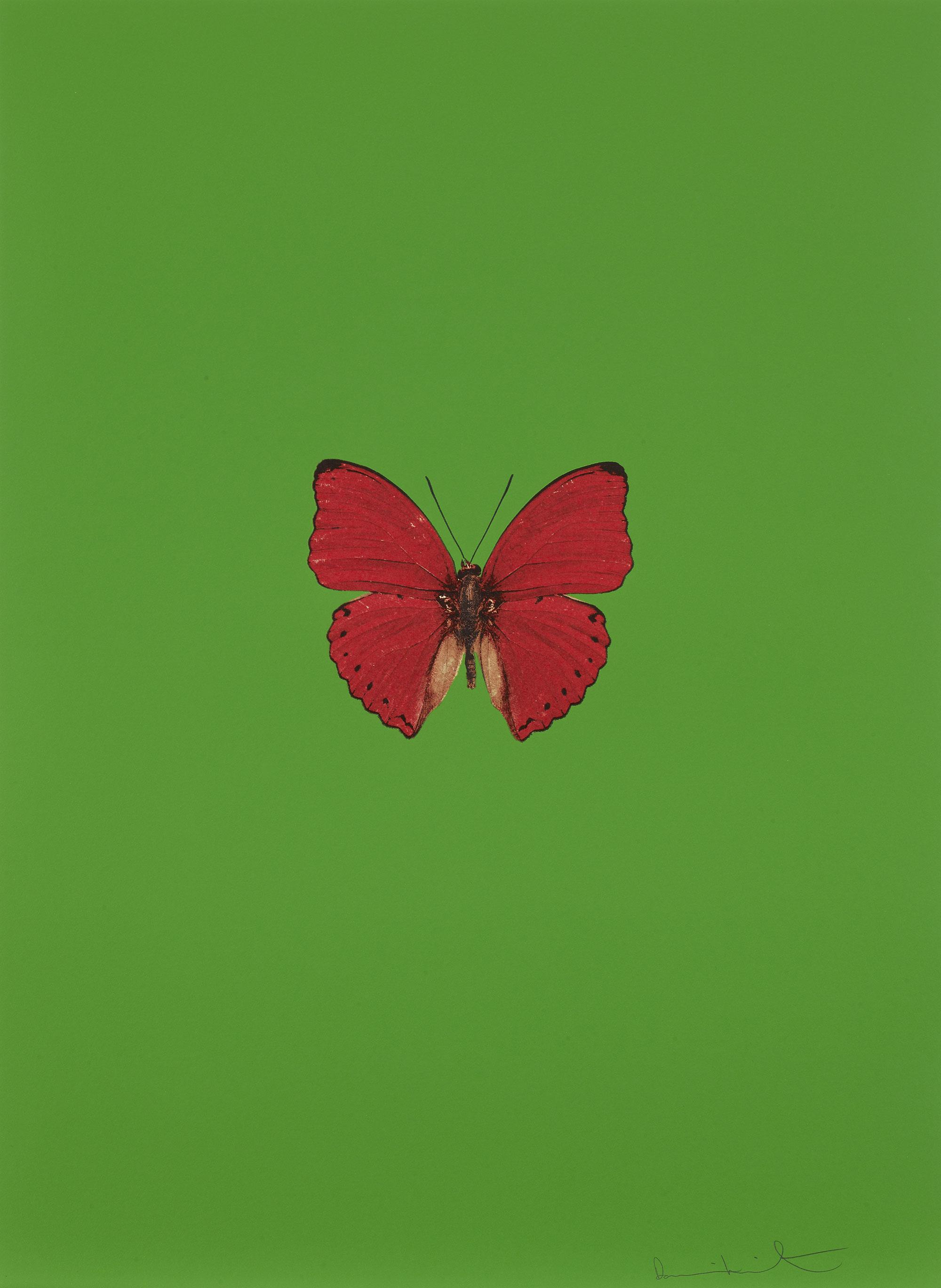 Damien Hirst   It's a Beautiful Day (verde) •2013 Gravura polimerizada Edição: 55 66.5 x 49 cm