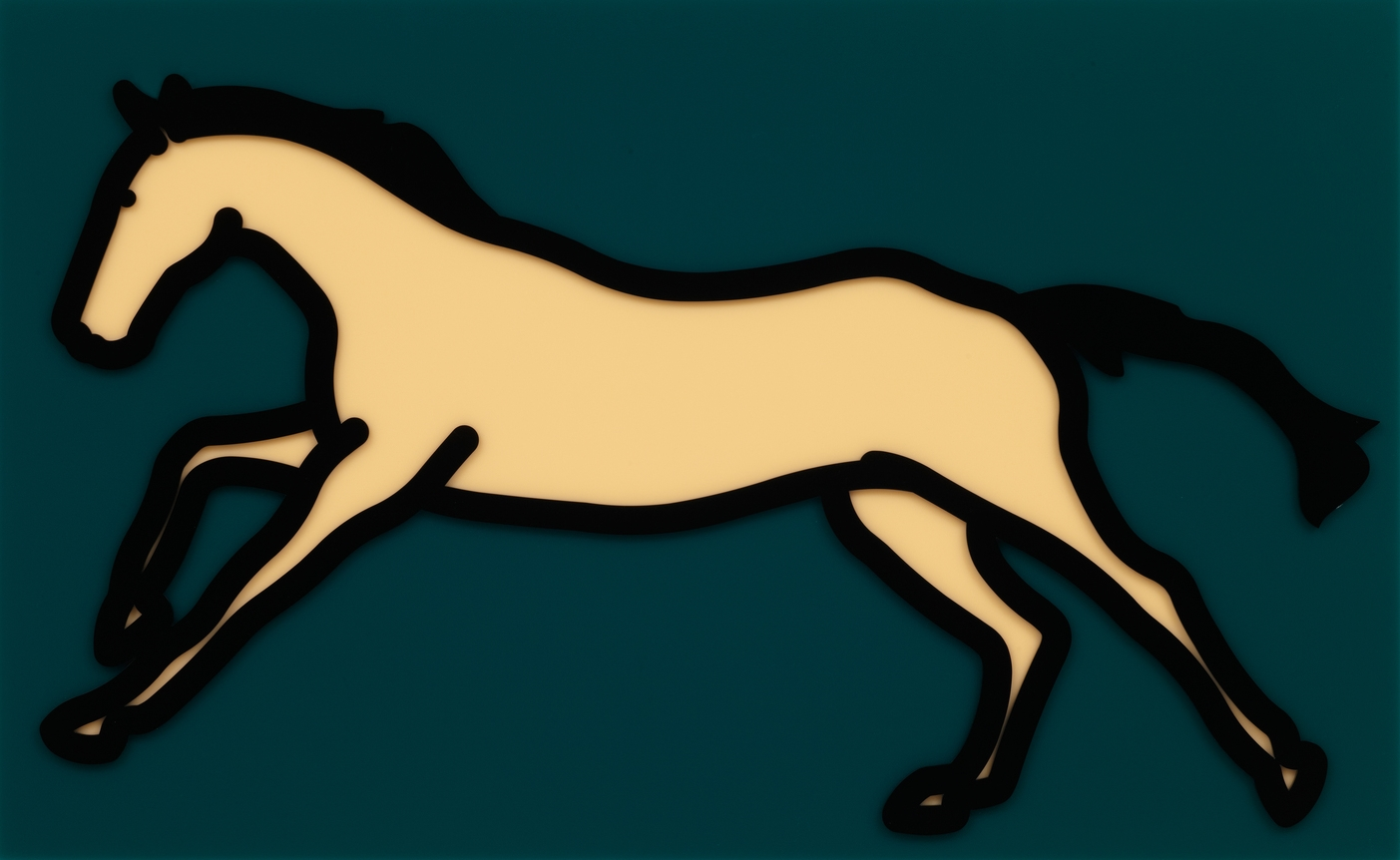 Julian Opie  Galloping Horse 2 •2013 Acrílico Edição: 35 61.4 x 100 cm