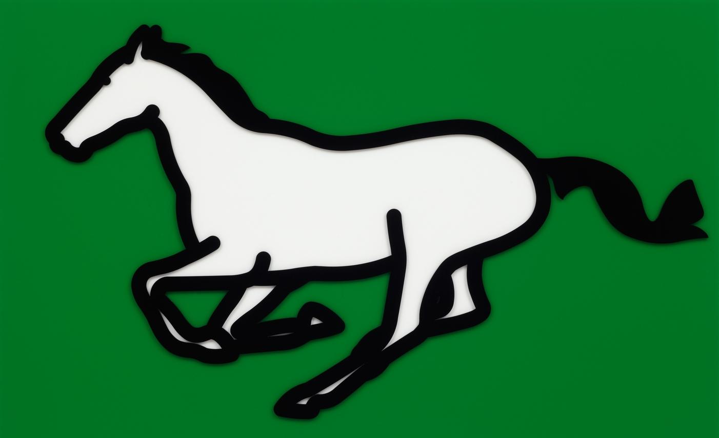 Julian Opie  Galloping Horse 1 •2013 Acrílico Edição: 35 61.4 x 100 cm