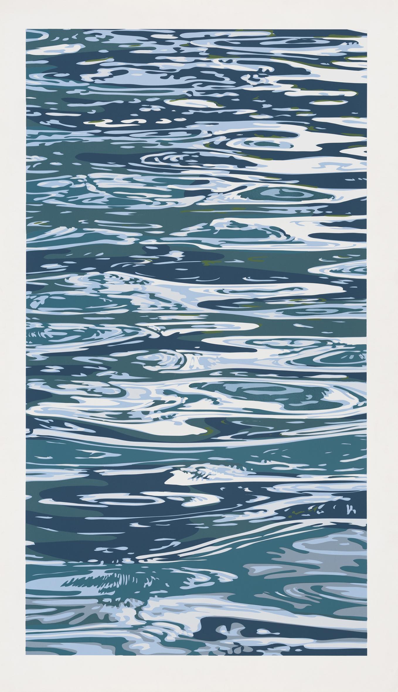 Julian Opie  We Lounged by the Pool •2003  Serigrafia Edição: 25 200 x 116 cm