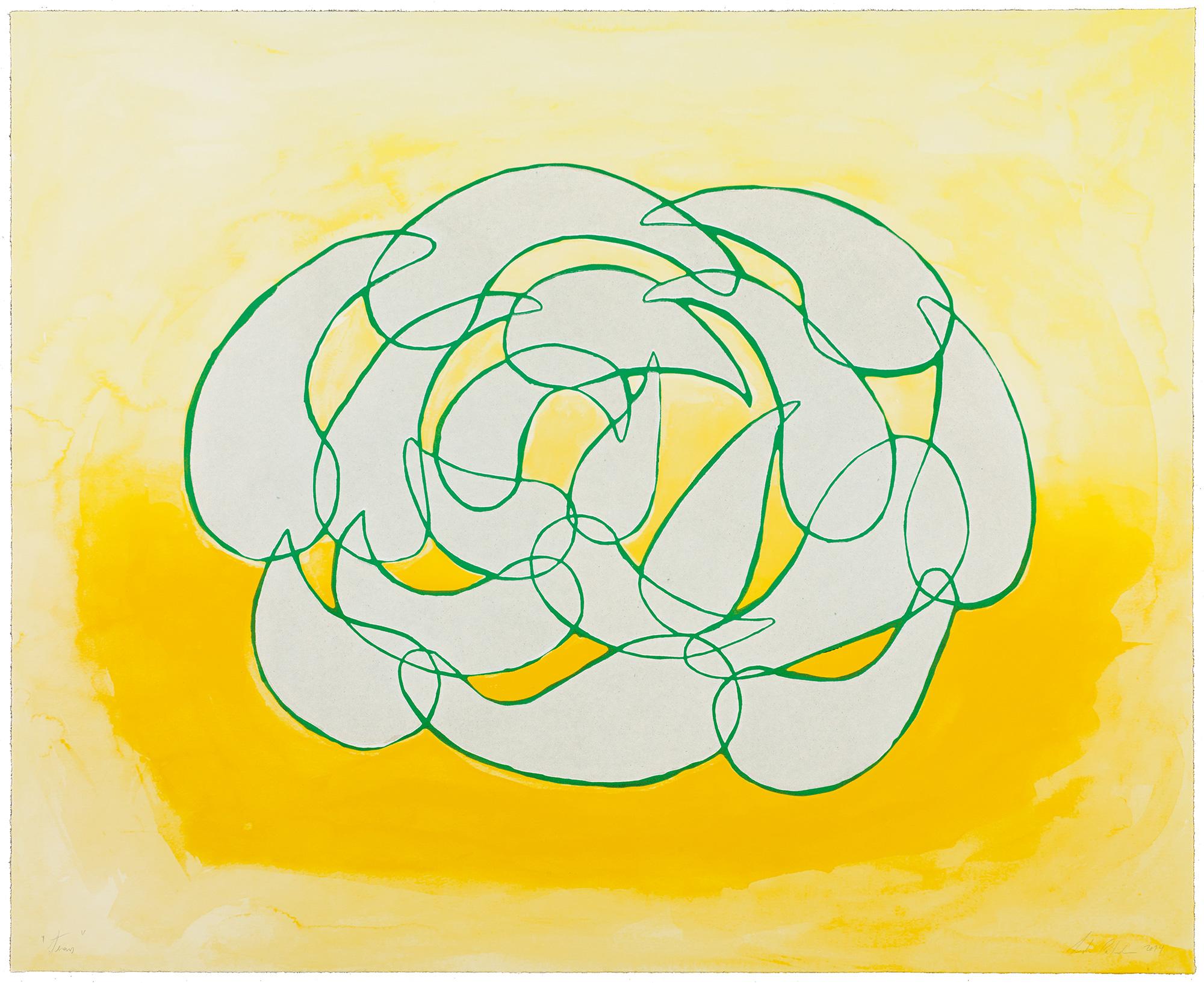 Leda Catunda   Tears • 2014   Xilogravura sobre gravura em polímero Edição: 60   72 x 90 cm