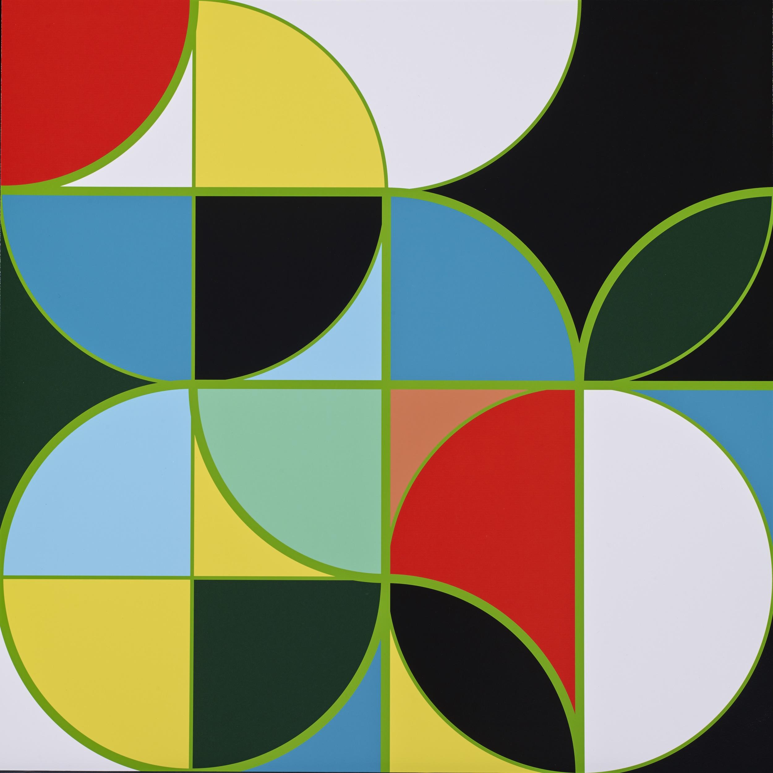 Sarah Morris     Apple•  2014 Serigrafia Edição: 45 Sem moldura   •  75 x 75 cm