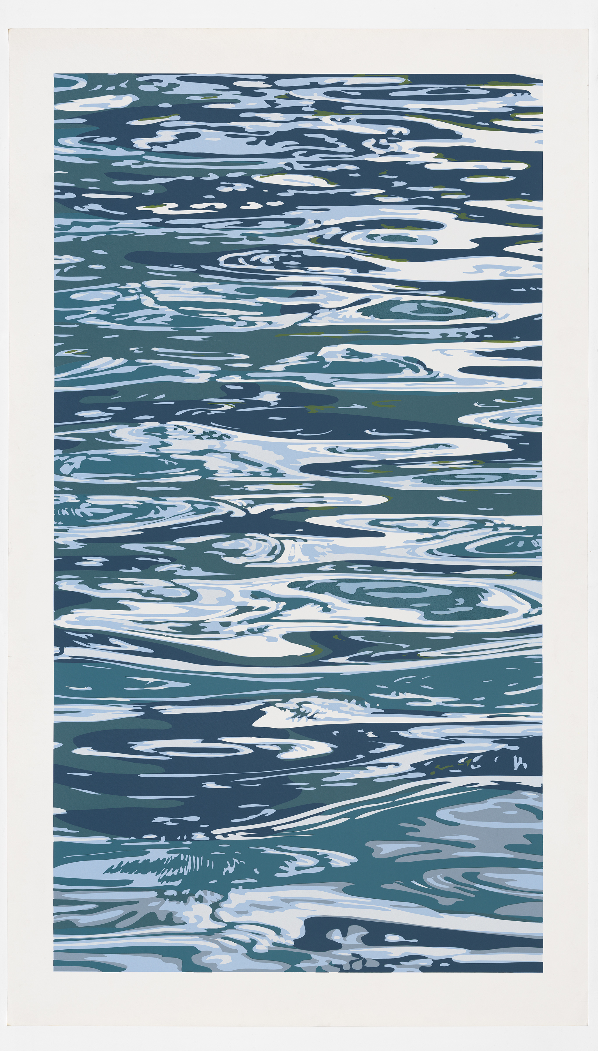 The Lounged by the Pool  2003  woodblock  200 cm x 116 cm