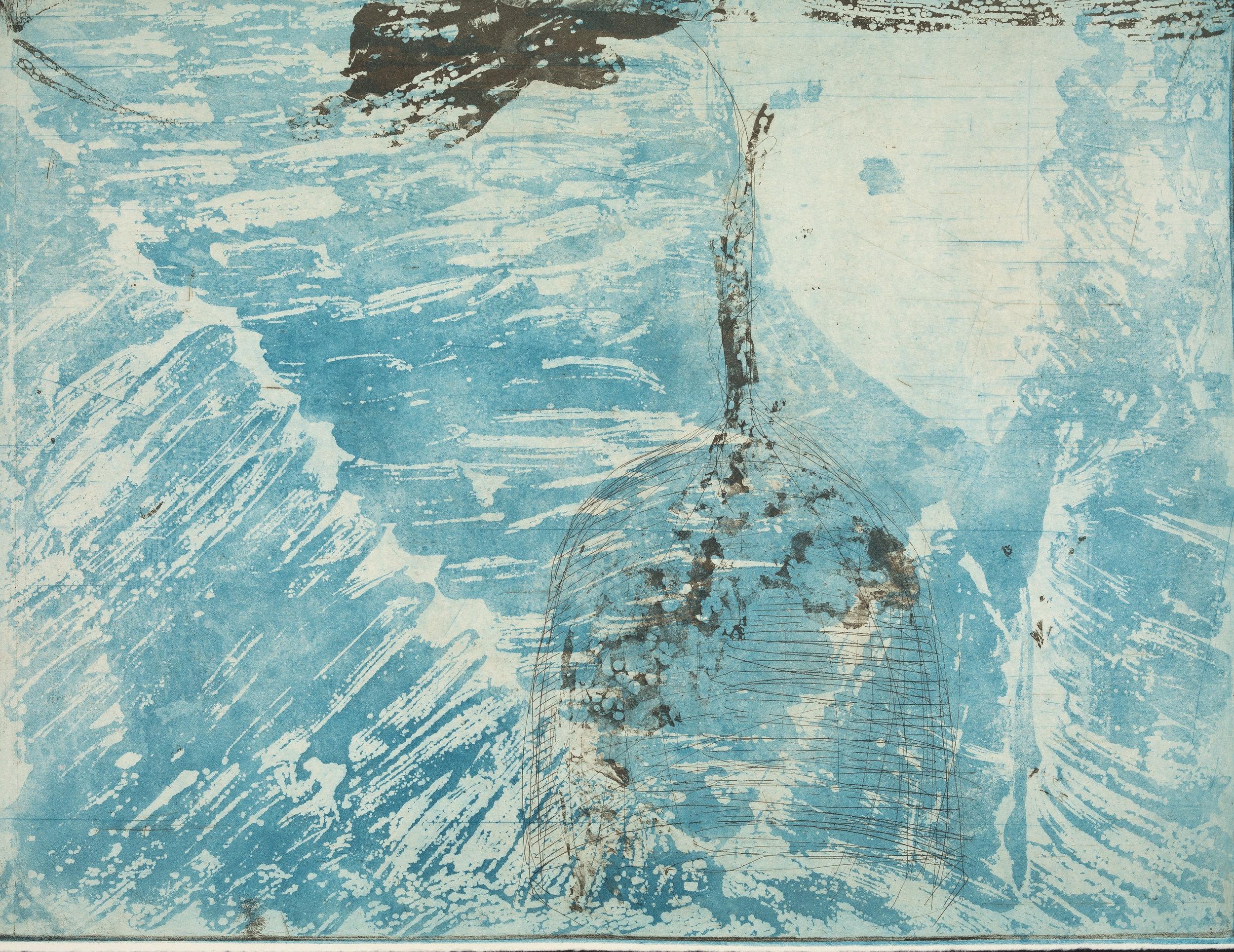 Título: sem título - série Água  2016  impressão em papel de algodão com pigmentos minerais  Edição: 5
