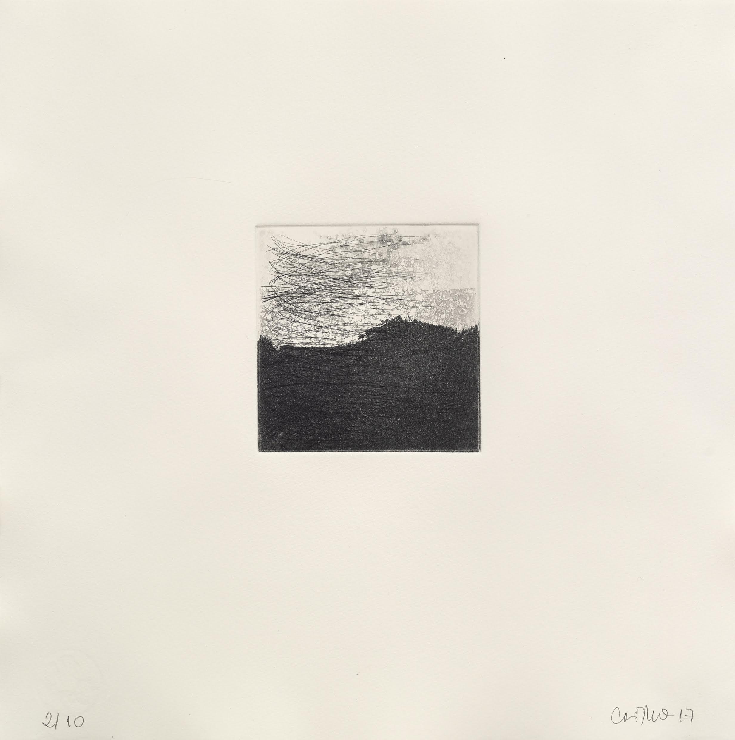 Sem título, 2017  gravura em metal  edição 1/10  37,5 x 37,5 cm