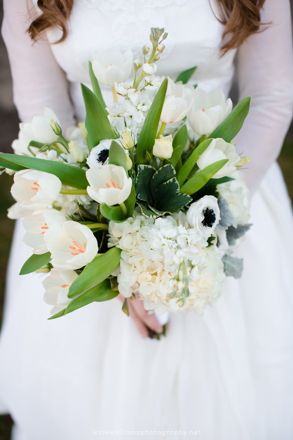 Photo from a fun early March wedding taken by  Lexie Williams Photography . Boquet done by  Camille's Floral .