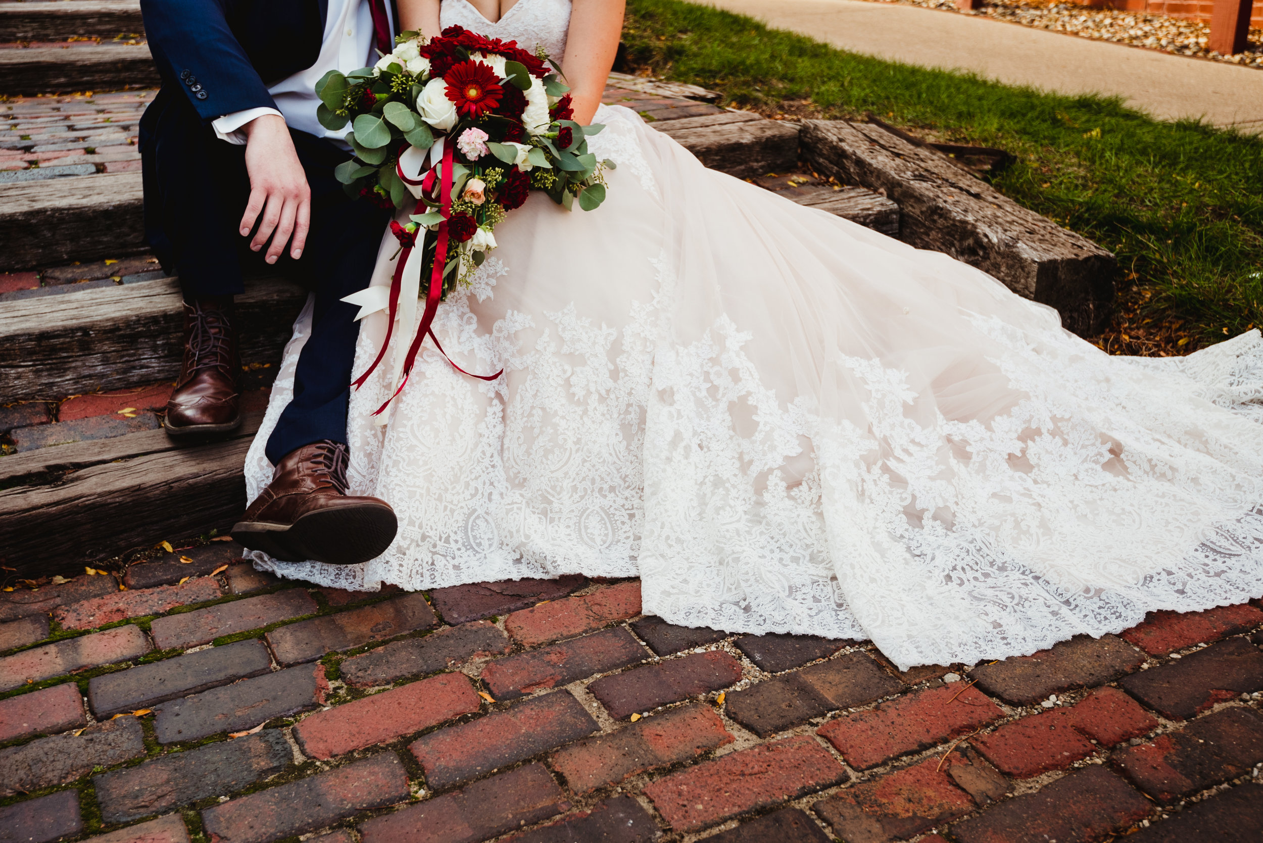 The brick pathway. Photo by  Shelby Chari Photography .