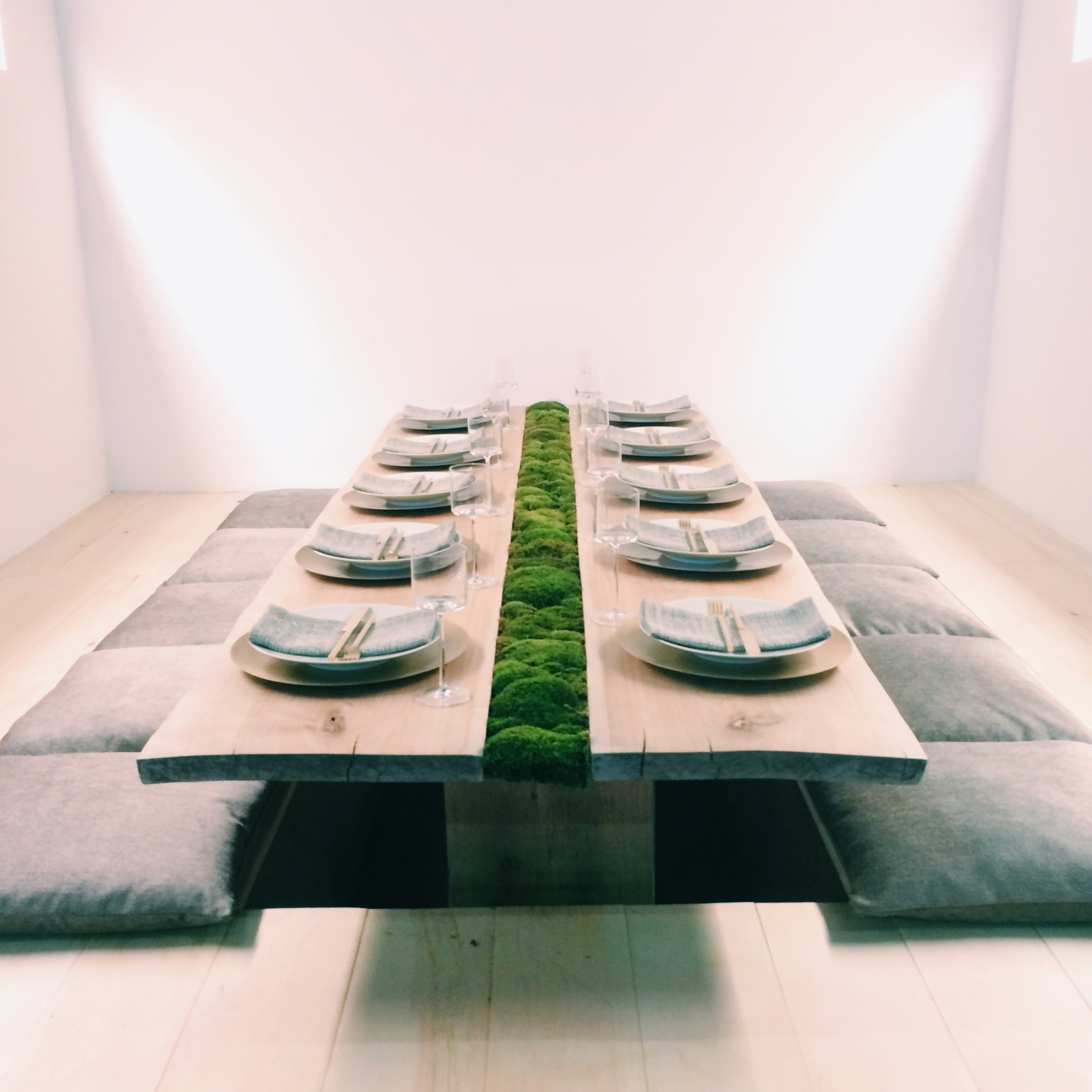tablescape by calvin klein home. also at DIFFA dining by design 2014.