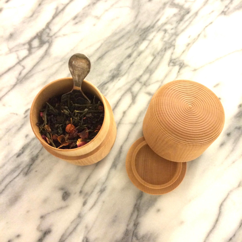 karmi tea canister, tawara, from sarah.