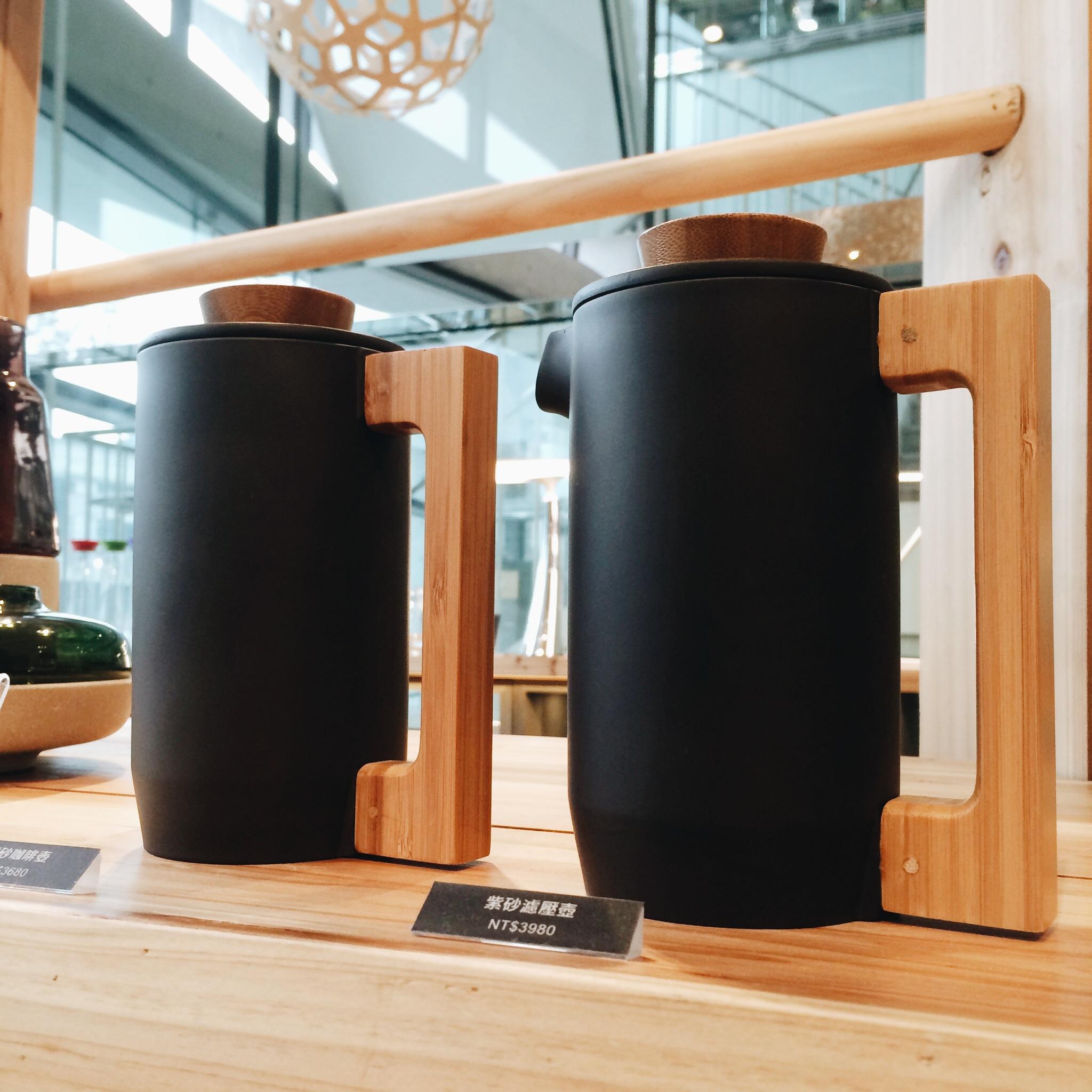 matte black coffee pots.