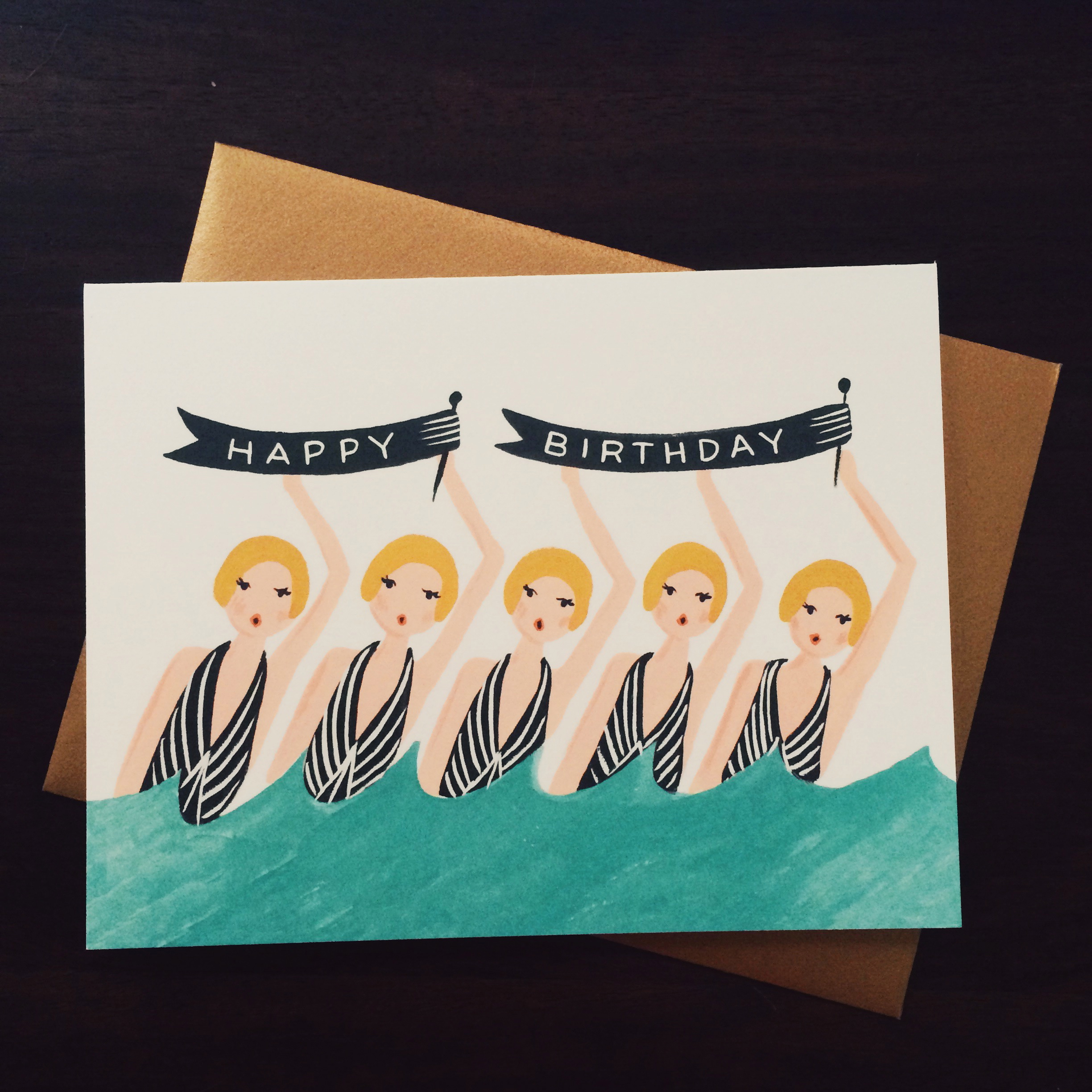 a  rifle paper co.  birthday card going to virginia beach this week to a friend i've known for half my life!