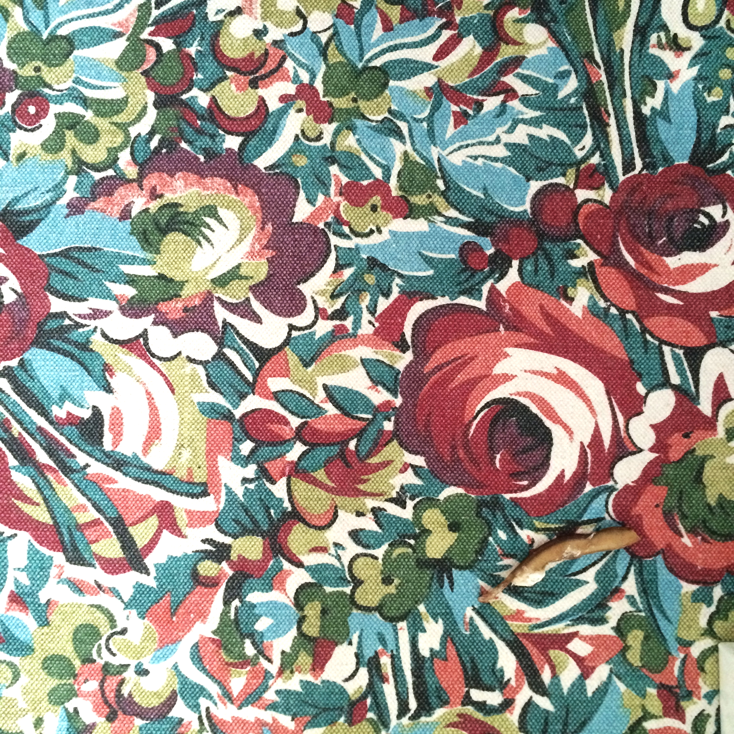 a very loud, very floral rug, which i had some doubts about but have decided to embrace.