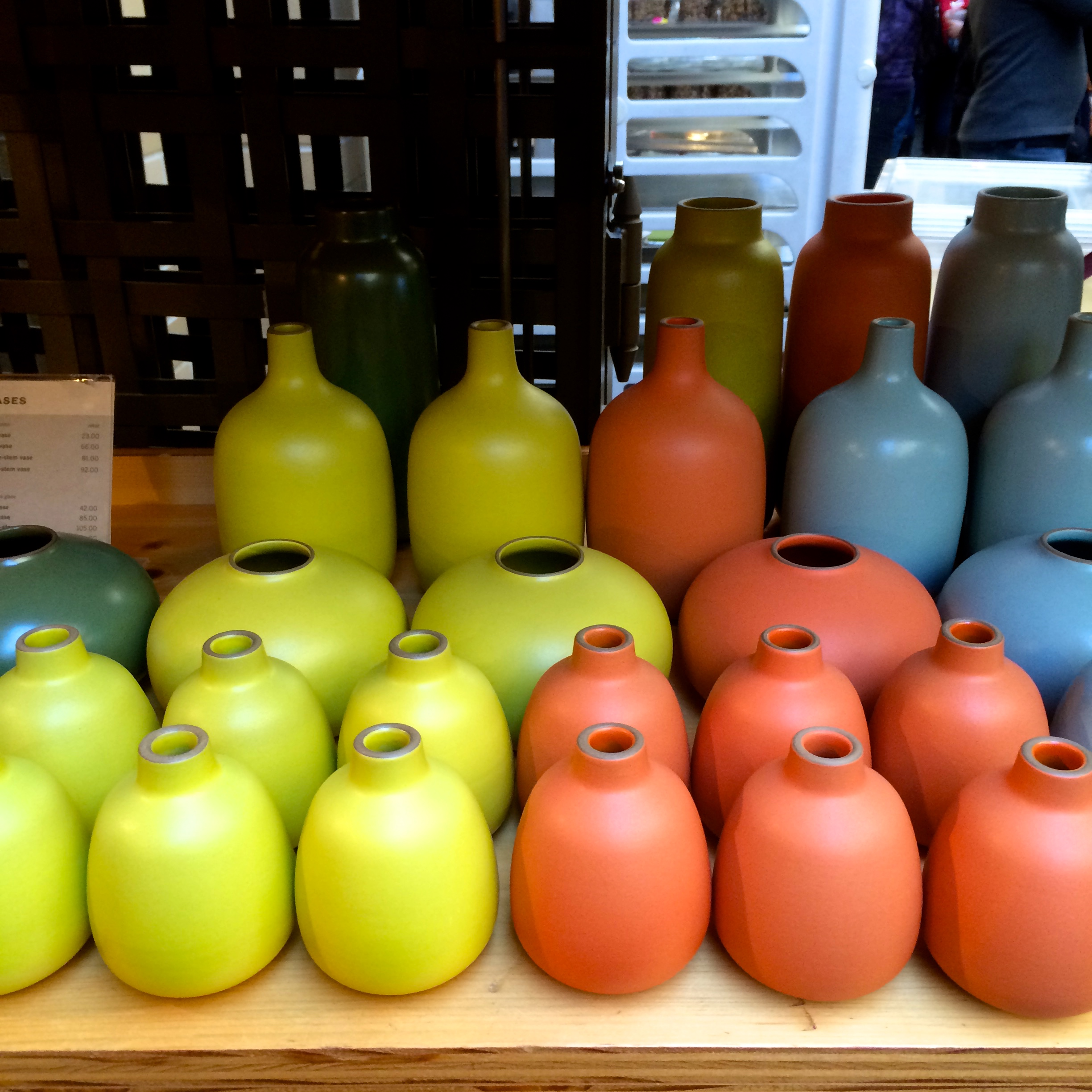 bright bulb vases at heath ceramics...love these!